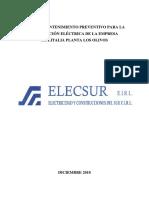 Plan de Mantenimiento Preventivo Para La Subestación Eléctrica de La Empresa Molitalia Planta Los Olivos