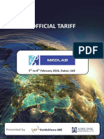Medlab 2018 Official Tariff