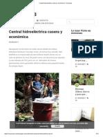 Central Hidroeléctrica Casera y Económica - Ecocosas