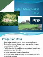 Desa Dan Masyarakat Desa