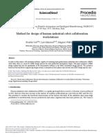 Method for Design of Human-industrial Robot Collaboration Workstations☆