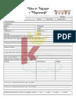 Ficha de Inscrição e Mapeamento