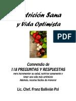 Nutricion Sana y Vida Optimista 2018 Lic Franz Ballivian Pol