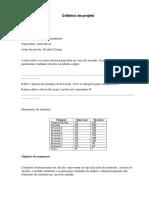 Critérios de Projeto padrão
