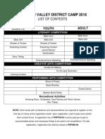 Final Contest List