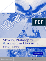 Slavery, Philosophy, And American Literature, 1830–1860