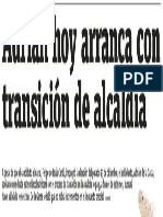 02-01-19 Adrián hoy arranca con transición de alcaldía