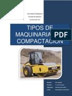 Tipos de Maquinaria de Compactación