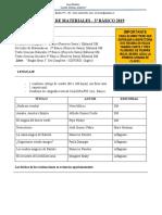 Lista de Materiales 3º Basico2019