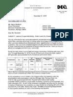 Parchment Lead Test Results