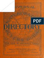 Universal Naturopathic Encyclopedia, Directory and Buyers' Guide - Year Book of Drugless Therapy for 1918-19. Lust, Benedict, Ed. 1918