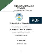 Monografia Evaluacion de La Educacion Inicial