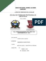 Monografia Mortalidad Neonatal en el Perú y sus departamentos 2011-2012 (O.A.S.)