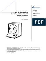 Payroll Submission User Manual