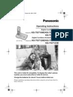 Panasonic Dect Phone Tg7100e_pqqx15057za