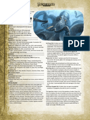 5e Mythic Giant Kraken | Nature