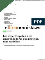 Los Expertos Piden a Los Emprendedores Que Protejan Más Sus Ideas - ElEconomista