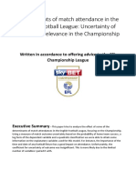Determinants of Match Attendance in the English Football League Uncertainty of Outcomes Relevance in the Championship