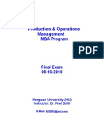 Herguan University-Production and Operations Management Final Exam -8!15!2010[1]