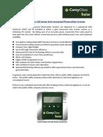 Carey Glass Solar Inverter Datasheet