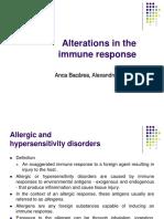 Alteration in Immune Response