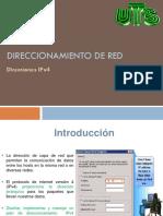 Direccionamiento de Red. Direcciones Ipv4