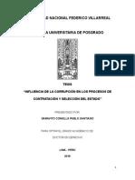 INFLUENCIA DE LA CORRUPCIÓN EN LOS PROCESOS DE CONTRATACIÓN Y SELECCIÓN DEL ESTADO