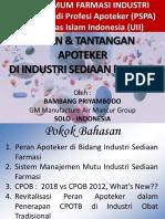 1. Kuliah Umum Apoteker Industri