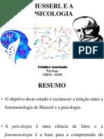 Husserl e a Psicologia - Slide