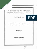 Procedimiento PG SS TC 0001 2011
