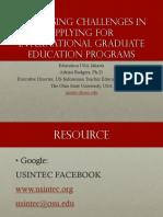 Advice for Applying to U.S. Graduate Programs