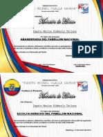 Diplomas Abanderados
