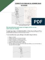 Psicología La Manera Correcta de Dibujar Al Hombre Bajo La Lluvia