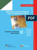 Educación sexual integral para educación inicial