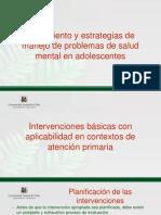 Tratamiento y Estrategias de Manejo Problemas de Salud Mental de Adolescentes