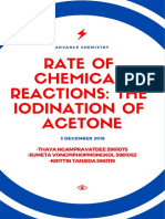 rate of chemical reactions  the iodination of acetone