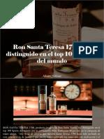 Alberto Vollmer - Ron Santa Teresa 1796 Fue Distinguido en El Top 100 Spirits Del Mundo