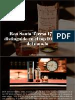 Andrés Chumaceiro - Ron Santa Teresa 1796 Fue Distinguido en El Top 100 Spirits Del Mundo