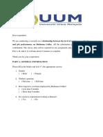 Seminar Questionnaire