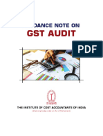 Guidance Note on GST Audit
