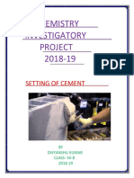 Setting of Cement-converted