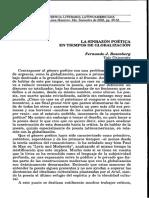 Rosenberg, Fernando. -La Sinrazón Poética en Tiempos de Globalización-
