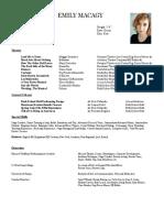 resume july 2018