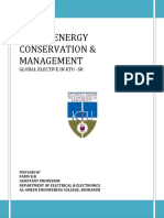 Me 482 ENERGY CONSERVATION AND MANAGENET Text Book Prepared by Faris Kk FOR KTU S8