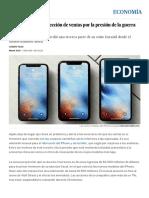 Apple Rebaja La Proyección de Ventas Por La Presión de La Guerra Arancelaria _ Economía _ EL PAÍS