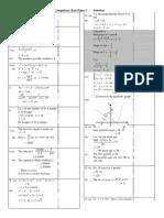 F6 Maths 2012 1stExam Paper1answer