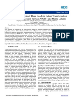 Comparative Analysis of Three Geodetic Datum Transformation Software for Application between WGS84 and Minna Datums