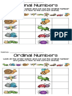 Activity Ordinal Numbers