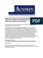 Pregnancy Care Products Market
