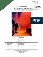Alkali Deposits Found in Biomass Power Plants - Vol I - NREL